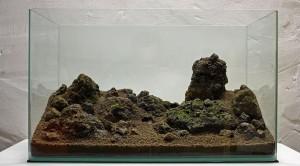 susunan batu dibuat natural