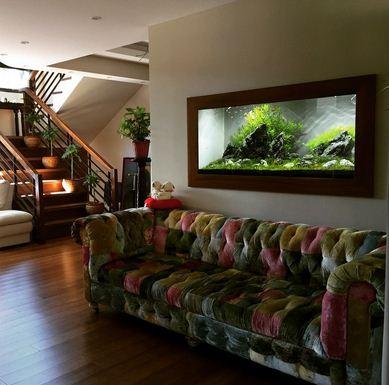 Aquarium Dinding hiasan ruang keluarga